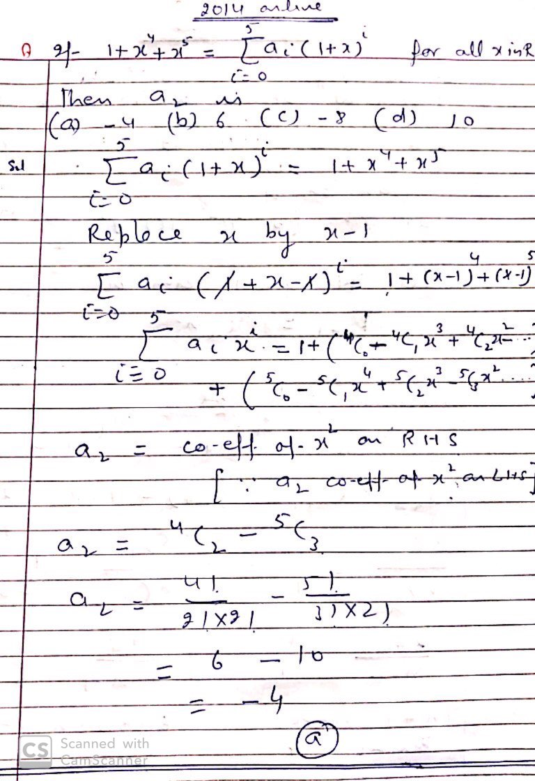 binomial theorem questions and answers pdf